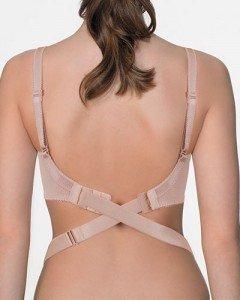 Women's Backless Low Back Bra Converter 2 Hook Nude Strap ...