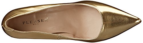 Classique Pleaser Con Donna Tacco Met Scarpe Oro Pu gold 20 BCCxwU7q