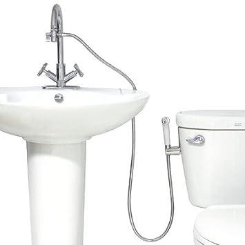 MODONA Premium WARM Water Diaper & Bidet Sprayer Complete Set - White & Polished Chrome - 5 Year Warrantee Modona Bathroom Company TS24-A