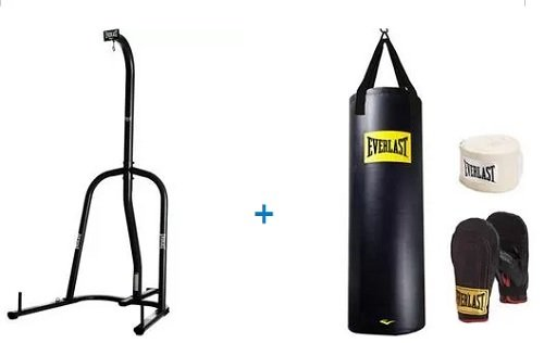 Everlast Single-Station Heavy Bag Stand and 100lb Heavy Bag Kit Value Bundle by GerardJae's Gear Bundles
