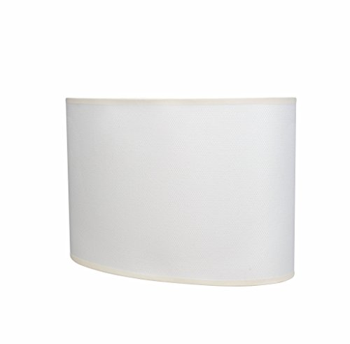 Aspen Creative 37021 Transitional Oval Hardback Shaped Spider Construction Lamp Shade in Off-White, 15 1/2