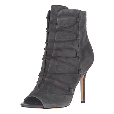 Women's Casual Formal Ruby Stiletto Dress 4in Shoes 3 Heel 4in Shoes Gray Black Fall Boots Gore Grey 4 Leatherette Zipper Formal X5wOwqr