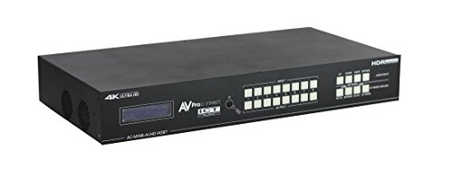 AVProConnect 8x8 18GBps HDBaseT Matrix with ICT and uncompressed mirrored HDMI, IR Routing, RS232, Audio Matrixing (Full HDR, 4K60 4:4:4) AC-MX88-AUHD-HDBT ()