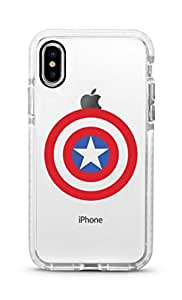 Stylizedd Apple iPhone XS/X Cover Impact Pro White Military Grade Dual Layer Case - The Shield
