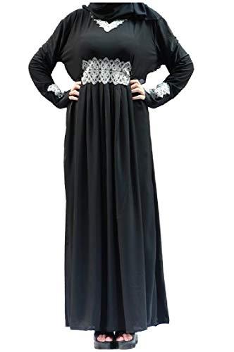 Lunghe Maxi Ricamato Maniche Abiti Islamica A Arabo Casuale As1 Musulmana Coolred donne wFq8vv