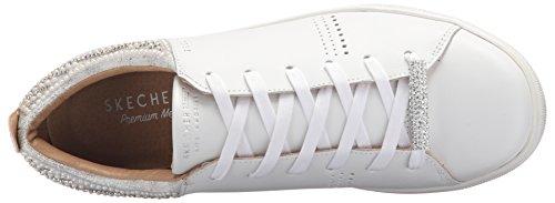 Para Plateado Blanco Perla Sintética Rhinestone Skechers Women'sModa Pearl Moda Street Mujer 1qPBHwg