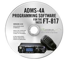 Yaesu ADMS-4A Programming Software on CD with USB Computer Interface Cable for FT-817 & FT-817D by RT Systems