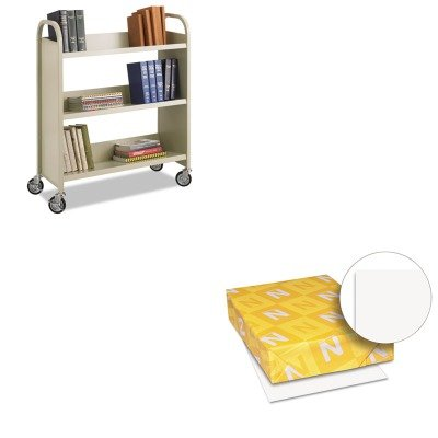 KITSAF5358SAWAU40411 - Value Kit - Safco Steel Slant Shelf Book Cart (SAF5358SA) and Neenah Paper Exact Index Card Stock (WAU40411) by Safco