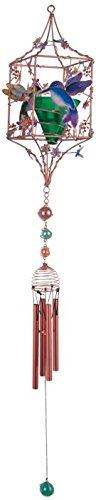 Wind Chimes Candle (StealStreet SS-G-99900 Candleholder Copper & Gem Hummingbird Hanging Decoration Wind Chime)