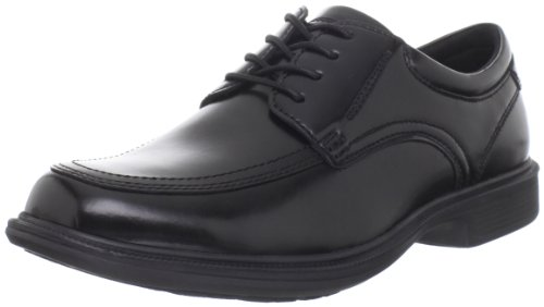 Nunn Bush Lace Oxfords - Nunn Bush Men's Bourbon Street Moc Toe Oxford Lace Up with KORE Technology, Black, 12 Wide US