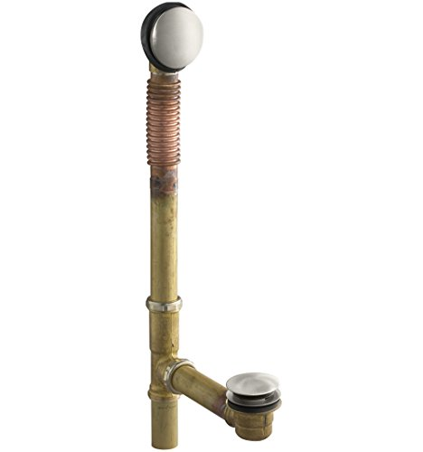 KOHLER K-7259-BN Clearflo Brass Toe Tap Bath Drain, Vibrant Brushed Nickel