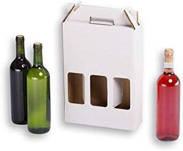 Cajas para botellas de vino automontables. Estuche de cartón, automontables, medida estándar. TeleCajas X20CBVB3 (x20) (para 3 botellas): Amazon.es: Oficina y papelería