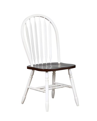 Sunset Trading Andrews Arrowback Dining Chair with Chestnut Seat, Set of 2, 38
