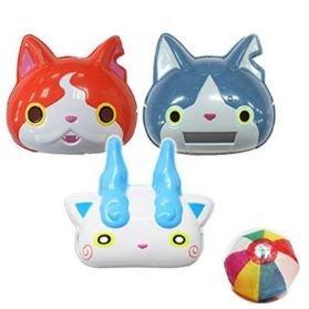 Jibanyan robonyan Komasan tres Set de Yokai reloj máscaras con globo de papel japonés
