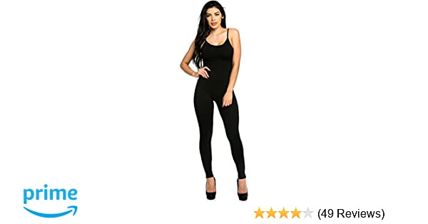 fa2e02106036 Staand Apparel Womens Sexy Spaghetti Strap Catsuit Unitard Tank Jumpsuit -  One Piece Bodysuit Rompers Playsuit Party