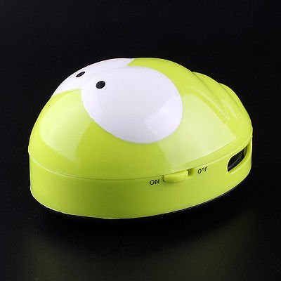 1pc Mini Frog Vacuum Cleaner To Remove The Cigarette Ash or Dust On The Office Table(Random Color)