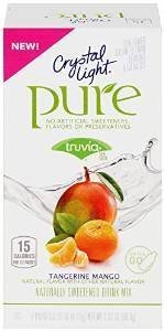 Crystal Light PURE Tangerine Mango Pack of 4 (28 Total) Crystal Twenty Light