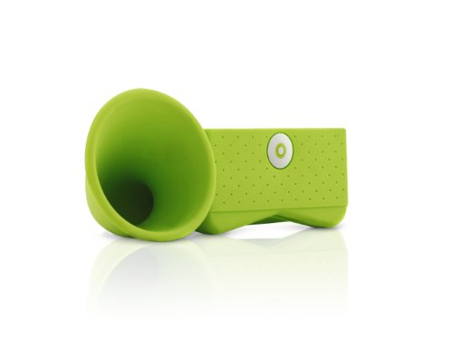 (Bone PORTABLE AMP FOR IPHONE HORN STAND GREEN (PORTABLE AUDIO/CELLULAR)