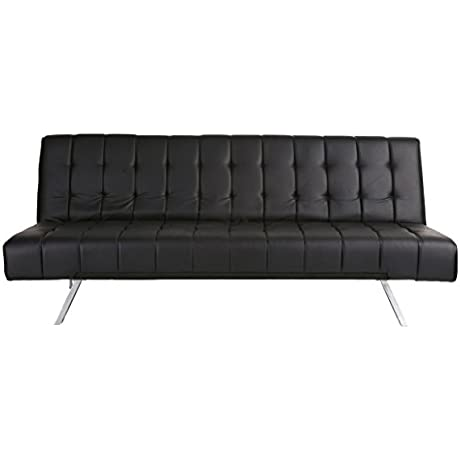 Abbyson Halsey Futon Sleeper Sofa Bed Black
