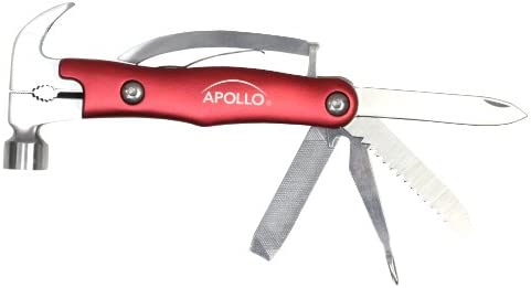 Apollo Precision Tools DT2191RE 9-in-1 Multi Hammer in a Tin, Red