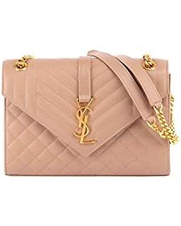 9c199babbec Saint Laurent V Flap Monogram YSL Medium Envelope Chain Shoulder Bag -  Golden Hardware
