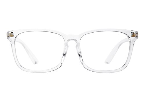 Agstum Wayfarer Plain Glasses Frame Eyeglasses Clear Lens (Transparent, - Glasses Plain