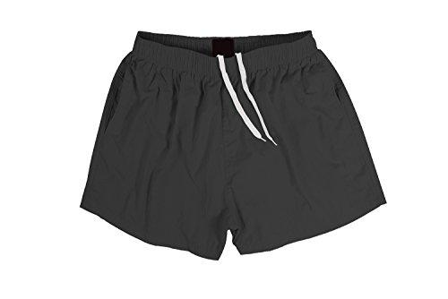 Male Running Short - Sundayrose Men's Running Shorts Quick Dry Gym Training Shorts with Pockets Dark Grey - Size M