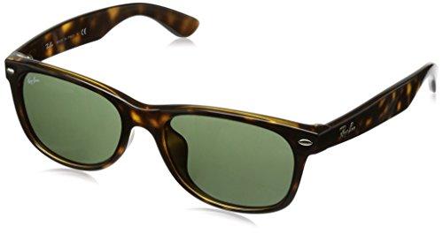 Ray-Ban New Wayfarer RB2132F Sunglasses Tortoise / Crystal Green - Ban Ray Fit Asian