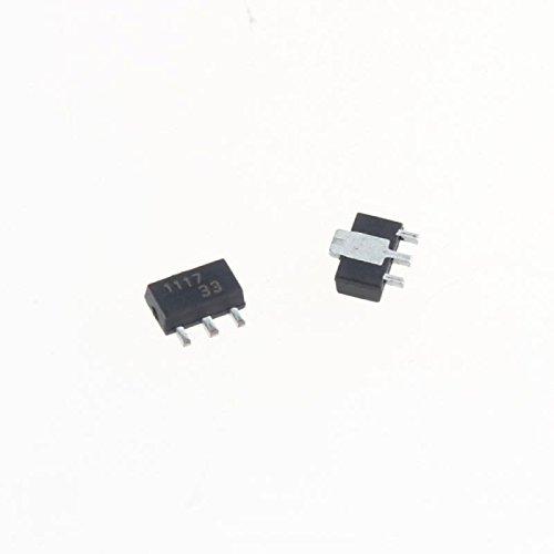 UXOXAS AMS1117-3.3V SOT-89 Linear Power Supply IC (20 Pcs)