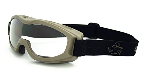Guard-Dogs Goggles, Evader 2 Earth Clear w/FogStopper (Best Guard Dog Ever)