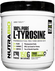 NutraBio 100% Pure L-Tyrosine Powder - 150 Grams