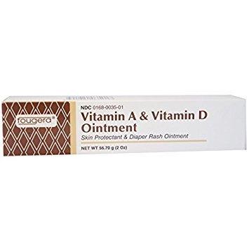 Vitamin A and Vitamin D Ointment Tube For Diaper Rash - 2 Oz