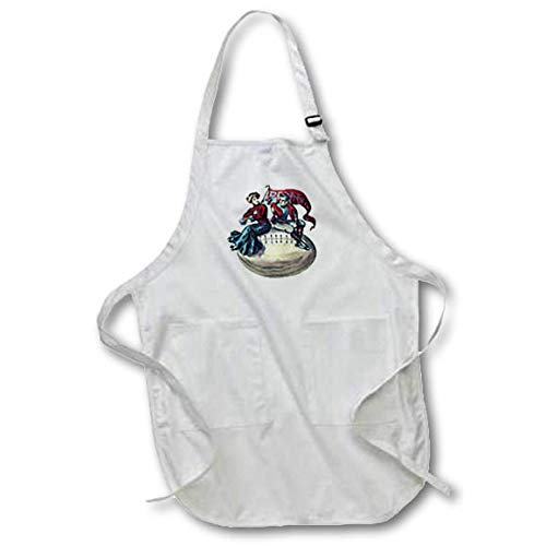3dRose AmansMall Sports and Typography - Vintage College Football Pennsylvania Banner Image, 3drsmm - Medium Length Apron with Pouch Pockets 22w x 24l (apr_291816_2)