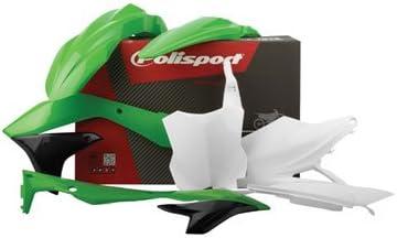 Polisport Complete Replica Plastic Kit 2005 Green for Kawasaki KX250F 2006-2008
