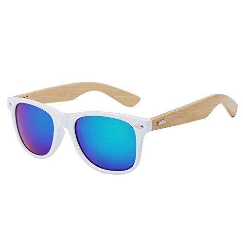 Gafas Gafas para Sol Bambú de o y Ultravioletas para Hombres Conducción al Anti Aire Libre Marco YANKAN O Mujeres Lentes de de Resina la 8Fwda84q
