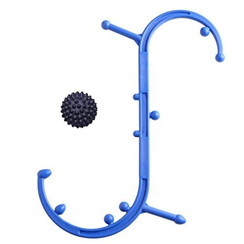 (Body Back Buddy (Blue) Trigger Point Self-Massage Stick and RhinoPro (Black) Massage Ball Bundle - Handheld Shoulder, Neck, Back & Muscle Massager by Body Back Company)