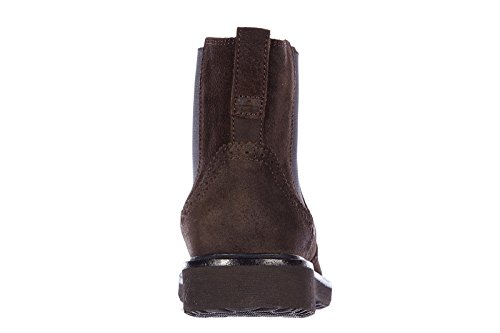 Hogan bottines demi-bottes homme en daim h217 route marron