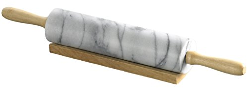 Evco International Creative Home 74000R Marble Rolling Pin, White (Pen Marble Base)