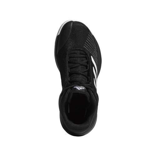 adidas Unisex Pro Spark 2018 Basketball Shoe, Black/White/Grey, 2.5 M US Little Kid by adidas (Image #7)