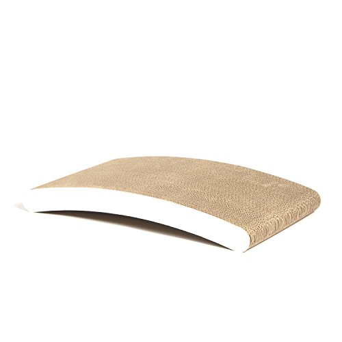 Claws Curve Scratching Pad White Basics Collection Cat Scratcher