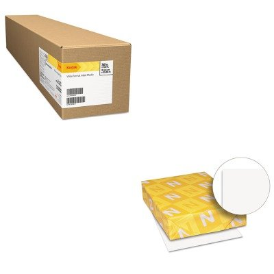 KITBMGKPRO17LWAU40411 - Value Kit - Kodak Professional Inkjet Photo Paper Roll (BMGKPRO17L) and Neenah Paper Exact Index Card Stock (WAU40411) by Kodak
