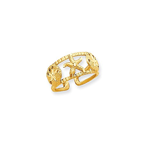 14k Starfish Toe Ring by CoutureJewelers
