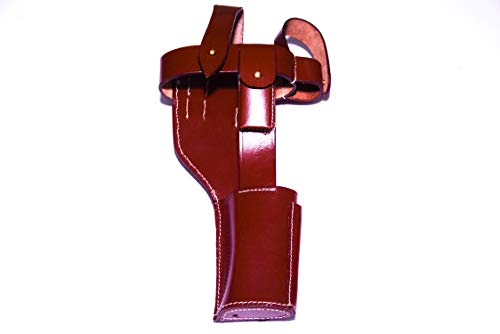 German WWI Mauser C-96 Broomhandle Holster Rig (Brown) (German Mauser Broomhandle Leather Holster And Stock)