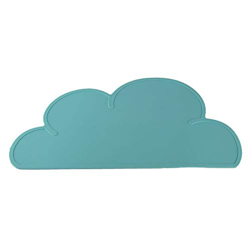 Emily Children Silicone Cloud Shaped Placemat Dinnerware Table Placemat Green