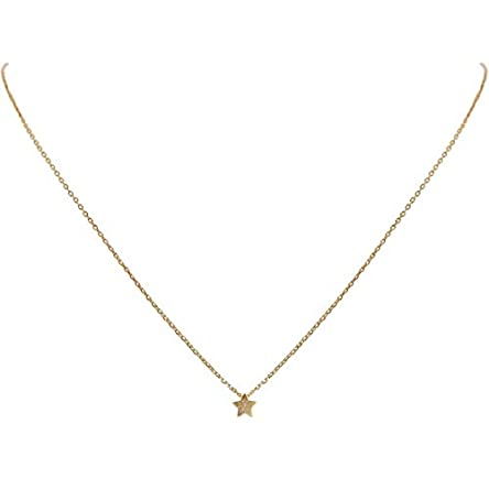 Humble Chic Tiny Star Necklace – Simple Minimalist...