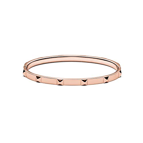MVMT Women's Stud Thin Bangle Bracelet | Clasp Closure, Stainless Steel | Rose - Bangle Stud