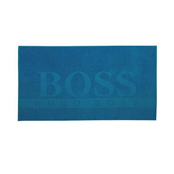 Hugo Boss - Telo Mare in Cotone Blu Navy con Logo 50426333 413 2 spesavip