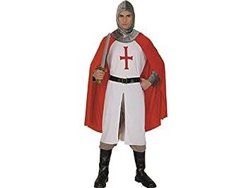 DISONIL Disfraz Caballero Blanco Cruzado Hombre Talla XL: Amazon ...