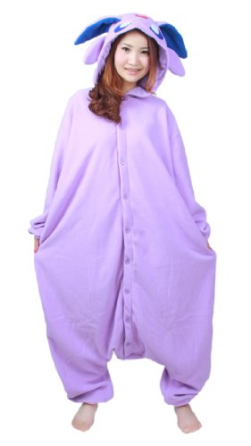 NOL Adult Unisex Onesie Costume Pyjamas Cosplay Costumes M: 160 - 169cm (5.2' - 5.5') height Espeon Monster