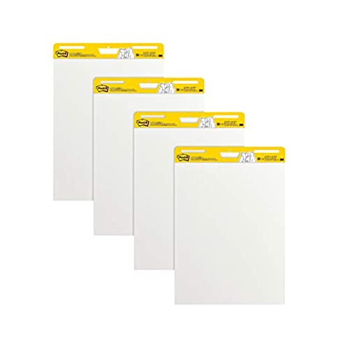- 31VJhvL6tlL - Post-It Super Sticky Easel Pad, 25 x 30 Inches, 30 Sheets/Pad, 4 Pads, Large White Premium Self Stick Flip Chart Paper, Super Sticking Power (559-4)